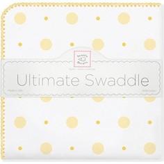 Фланелевая пеленка SwaddleDesigns для новорожденного YW Big Dot Lt Dot (SD-492Y)