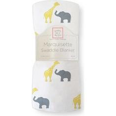 Пеленка детская тонкая SwaddleDesigns Маркизет Y Giraffe/Elephant (SD-456Y)