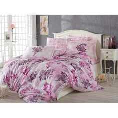 Комплект постельного белья Hobby home collection Евро, поплин, Elvira, лиловый (1501001114)