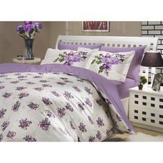 Комплект постельного белья Hobby home collection Семейный, поплин, Paris Spring, лиловый (1501000143)