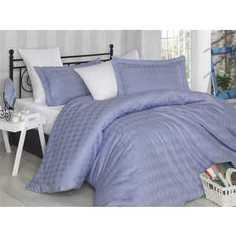 Комплект постельного белья Hobby home collection 1,5 сп, сатин, Bulut, лилово-белый (1607000158)