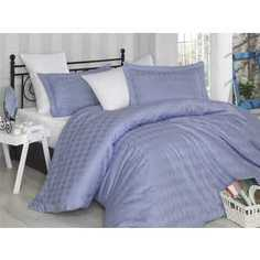 Комплект постельного белья Hobby home collection Семейный, сатин, Bulut, лилово-белый (1607000014)