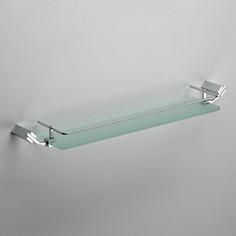 Полка стекло с прямым ограничителем Schein (129B) хром