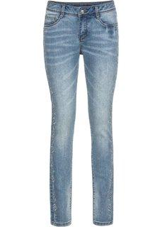 Джинсы Skinny с вышивкой (голубой) Bonprix