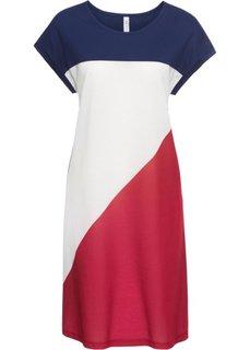 Платье из трикотажа (белый/темно-красный/полуночная синь) Bonprix