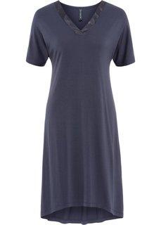 Платье с сатиновыми элементами (черничный) Bonprix