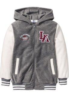 Флисовая куртка (серый меланж/цвет белой шерсти) Bonprix