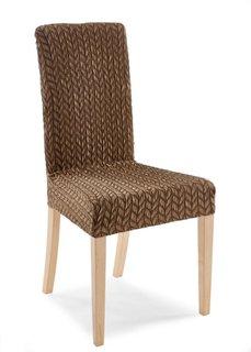Чехол для стула Вязаный (коричневый) Bonprix