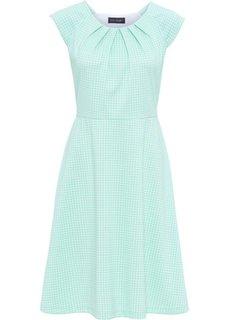 Платье (нежно-мятный/белый в клетку) Bonprix