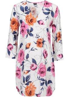 Платье (цвет белой шерсти в цветочек) Bonprix