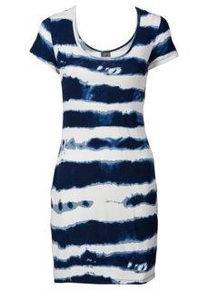 Платье (синий/бежевый с узором) Bonprix