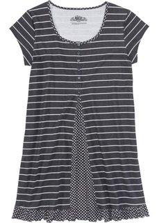 Ночная сорочка (серый/серебристо-серый с рисунком) Bonprix