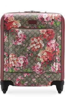 Пластиковые чемоданы Gucci