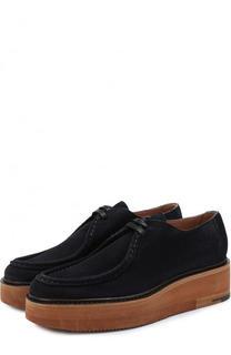 Замшевые ботинки на массивной подошве Dries Van Noten