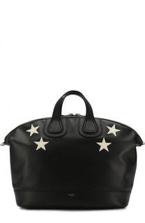 Кожаная дорожная сумка Nightingale с плечевым ремнем Givenchy