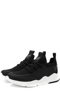 Комбинированные кроссовки на шнуровке Philipp Plein
