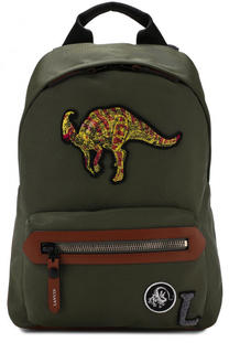 Текстильный рюкзак с нашивками Lanvin