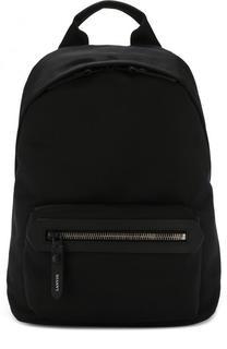 Текстильный рюкзак с внешним карманом на молнии Lanvin