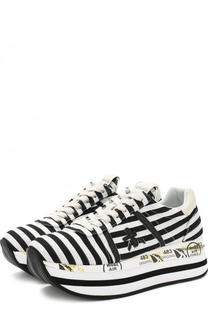 Текстильные кроссовки Beth на шнуровке Premiata