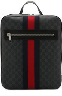 Рюкзак GG Supreme с кожаной отделкой Gucci
