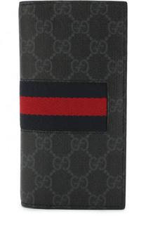 Бумажник GG Supreme Web с отделениями для кредитных карт Gucci
