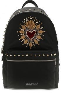 Текстильный рюкзак Vulcano с отделкой Dolce & Gabbana