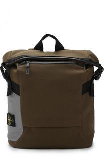Текстильный рюкзак с внешним карманом на молнии Stone Island