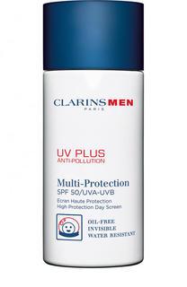 Защитный флюид-экран для мужчин UV Plus Anti-Pollution SPF 50 Clarins