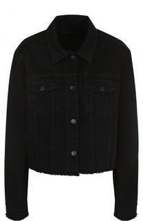 Укороченная джинсовая куртка свободного кроя J Brand