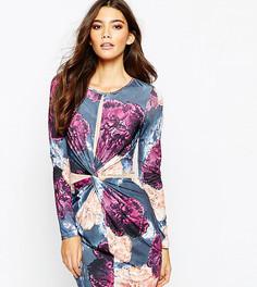 Облегающее платье с запахом спереди и сетчатой отделкой Ginger Fizz - Мульти