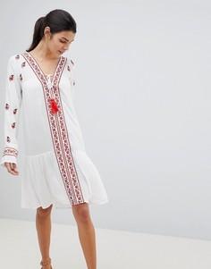 Пляжная накидка с вышивкой Anmol - Белый