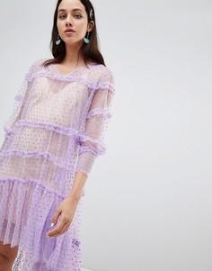 Платье с оборками To Be Adored Israela - Розовый