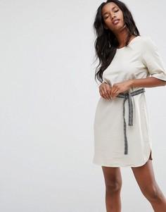 Платье с поясом Vero Moda - Кремовый