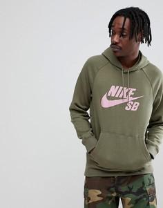Зеленый худи Nike SB 846886-222 - Зеленый