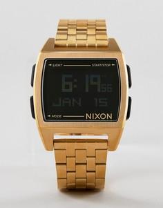 Золотистые электронные наручные часы Nixon A1107 - Золотой