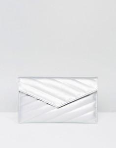 Стеганая сумка-клатч ASOS - Серебряный
