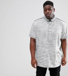 Меланжевая футболка-поло Loyalty and Faith PLUS - Серый