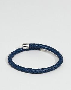 Синий кожаный браслет Ted Baker - Синий