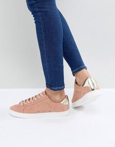 Женские кроссовки со шнуровкой ASOS DELINA - Оранжевый