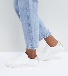 Женские кроссовки для широкой стопы на шнуровке ASOS DESIGN - Белый