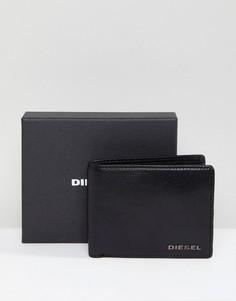 Кожаный кошелек для мелочи Diesel - Черный