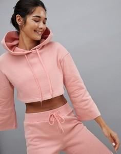 Худи розового цвета укороченного кроя South Beach - Розовый