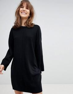 Oversize-платье с широкими рукавами ASOS - Черный