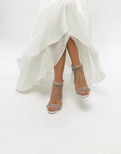 Декорированные босоножки на каблуке ASOS HONOR Premium Bridal - Кремовый