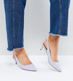 Туфли на каблуке-рюмочке с ремешком через пятку ASOS SPIRIT - Синий