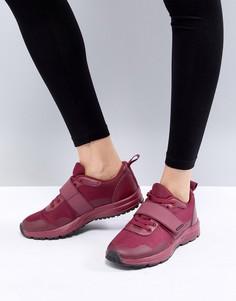 Темно-бордовые кроссовки ASOS 4505 - Красный
