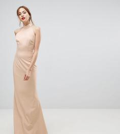 Платье макси с американской проймой и открытой спиной Jarlo Tall - Розовый