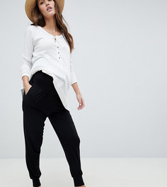 Трикотажные брюки галифе с поддерживающей вставкой ASOS DESIGN Maternity - Черный