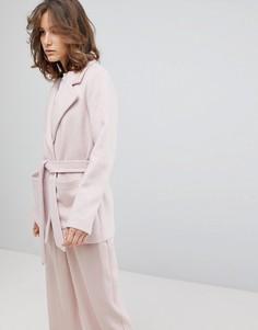 Укороченный тренч Selected - Розовый