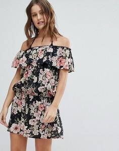 Пляжное платье с открытыми плечами Billabong - Мульти